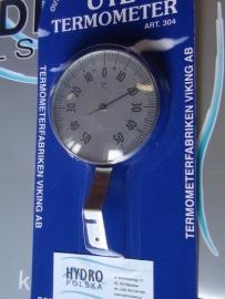 Termometr zewnętrzny zaokienny 304 tarczowy -50+50/c Viking