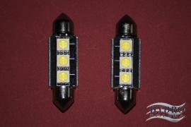 Żarówka LED 1,6W 12V C5W RURKA 39mm biała zimna CAN.POSTOJÓWKI
